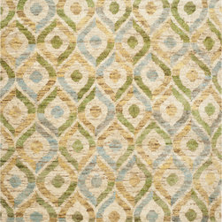 Safavieh - Safavieh Bohemian BOH633A, Bleach, Blue, 5'x8' Rug - Safavieh's Bohemian Collection is all-organic, with exquisitely fine jute pile woven onto a cotton warp and weft, and an earthy natural color palette. The high quality jute chosen for our Bohemian rugs is biodegradable and recyclable, with an innate sheen because it is harvested only from true hemp, a quickly renewable resource that excels in length, durability, anti-mildew and antimicrobial properties. Safavieh brings fashion excitement to the eco-friendly rug category with the Bohemian collection's unique patterns, ribbed textures and remarkable hand. The rugs are washed to soften the yarn, and then brushed to an even more lustrous sheen.
