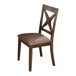 Jofran - Jofran Nova Upholstered Side Chair in Tucson Brown (set of 2) - Jofran - Dining Chairs - 794221KD - Rustic yet refined this Nova dining side chair is part of a charming dining room collection which will provide a comfortable way to create a rustic atmosphere.  The clean lines and Tuscon Brown finish will add a touch of rustic appeal.Features: