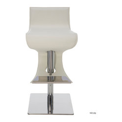 Portland Adjustable Stool, White, Set of 2