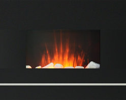 """ShopChimney Industries - 26"""" Electric Wall-Mount Fireplace with Remote Control - - Glass Dimensions: 26 3/4"""" (W) x 19 1/2"""" (H)"""