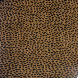 ANIMAL PRINT FABRICS - GREAT FOR OTTOMANS, PILLOWS OR ACCENT CHAIRS - PLAZA LEOPARD AMBER 73%RAYON 23%POLYESTER