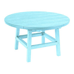 """C.R. Plastic Products - C.R. Plastics 32"""" Round Table In Aqua - Can be used for residential or commercial use, Ergonomically designed, Heavy 78 gauge plastic lumber 12 used by competitors, All stainless steel hardware, No painting, No slivers, No Rot, Completely waterproof"""