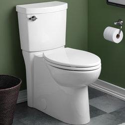 American Standard Clean High Efficiency Elongated Toilet - •Vitreous china