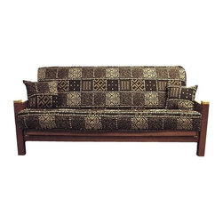 Blazing Needle Designs - Blazing Needles 3 Pc Tapestry Futon Cover Package (Safari) - Choose Design: Safari. Includes an 8 in. full size tapestry futon cover and (2) 18 in. knife edge matching pillows. Sofa not included. Fits any standard 8 in. full size futon. Pictured in Congo design. Made of premium Tapestry fabric. Very easy to take off and put on. Equipped with a zipper. Made to order and not returnable. Made in USA. No assembly required. Futon mattress cover: 8 in.: 75 in. L x 8 in. W x 54 in. H. Pillows: 18 in. L x 18 in. W. Spot Clean onlyMake any old futon look new or like a brand new sofa.