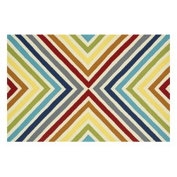 "Loloi - Loloi Palm Springs Pm-01 Multi Rug 7'-10"" X 7'-10"" - For the first time ever, world renowned designer Dann Foley brings his eye for great design and modern living to outdoorrugs. With patterns and colors as dynamic as Dannes persona, the Palm Springs Collection reflects Dannes passion forfun outdoor decorating. Palm Springs is hand hooked in China of 100% polypropylene thates specially treated to befade-resistant in spite of regular sunshine or rain."