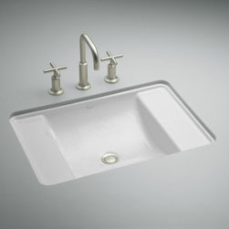 KOHLER - KOHLER K-2838-0 Ledges Undercounter Bathroom Sink - KOHLER K-2838-0 Ledges Undercounter Bathroom Sink in White