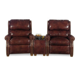 EuroLux Home - New Wedge Home Theater Wood Leather Nailhead - Product Details