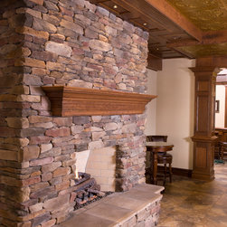 Fireplace Mantle - Custom cherry fireplace mantle.