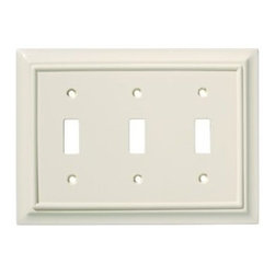 Liberty Hardware - Liberty Hardware 126448 Wood Architectural WP Collect 4.88 Inch Switch Plate - A simple change can make a huge impact on the look and feel of any room. Change out your old wall plates and give any room a brand new feel. Experience the look of a quality Liberty Hardware wall plate. Width - 4.88 Inch, Height - 6.8 Inch, Projection - 0.4 Inch, Finish - Light Almond, Weight - 0.35 Lbs.