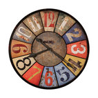 "Howard Miller - Howard Miller Oversize 30"" Multi Colored Wall Clock 