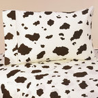 Sweet Jojo Designs - Sweet JoJo Designs 200 Thread Count Wild West Cowboy Bedding Collection Cow Prin - Sweet Jojo Designs Wild West Cow Print Sheet sets are made to coordinate with their matching Bedding Sets. The machine washable sheets use 100-percent cotton with cream and brown cow print fabric.