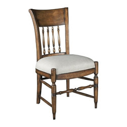 EuroLux Home - New Dining Side Chair  Santa Fe Finish Set 6 - Product Details