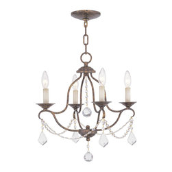 Livex Lighting - Chesterfield 4 Light 1 Tier Mini Chandelier - Venetian Golden Bronze - Livex Lighting is a manufacturer and distributor of decorative residential lighting. Their company was founded in 1993 and is now headquartered in a 150,000 square foot facility in Morristown, New Jersey. Livex Lighting currently offers over 2,500 products ranging from lighting fixtures for indoor and outdoor applications to lampshades, chandelier shades, ceiling medallions and accent furniture.