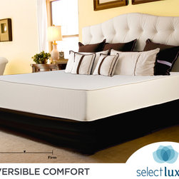Select Luxury - Select Luxury Reversible Medium Firm 10-inch King-size Foam Mattress with EZ Fit - Enjoy a restful sleep on this king-size foam mattress by Reversible Comfort. This plush mattress features a comfy foam top and classy stretch knit ticking on each side. Designed to stay true to form, this mattress will not compress during the night.