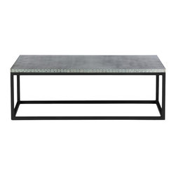 Kingston Krafts - The Conrad Zinc Top Coffee Table - Our Conrad zinc top coffee table features 100% sheeted zinc fitted to a steel welded base in matte black. Modern and industrial combine to provide a unique and transitional piece for your living space.