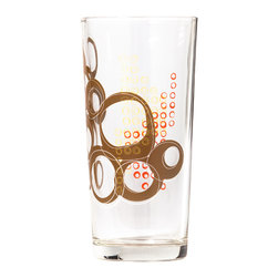 Working Class Studio - Kay Collection - Glass Tumbler Set of 6, Espresso - Bottoms up! With their layered circular pattern, these 15-ounce tumblers have the design pizzazz to enhance your table settings. Use them at every meal to elevate your daily dining experience.