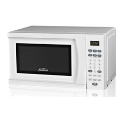 Sunbeam - Sunbeam SGS90701W-B White 0.7-Cubic Foot Microwave Oven - The Sunbeam 0.7-cubic foot microwave oven features 700-watts of cooking power and six auto-cooking settings. Prepare meals with ease,with 10 adjustable power levels,or opt for the express cooking or weight defrost for faster preparation.