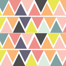 Bright Triangles - Wall Decal - Please note that metallic vinyl is not reusable.