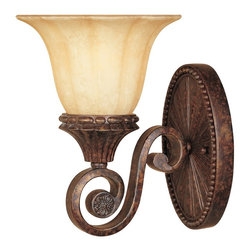 Designers Fountain - Designers Fountain 98701-BU Astor Manor Traditional Wall Sconce - Inspired by aristocracy and elegant formal European style, these designs are crafted to endure and render a timeless presence.