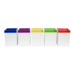Classic Box - Set of 5 - Made from food-safe, BPA-free plastic, this suite of five boxes comes in a spectrum of classic colors with interchangeable lids. Each box is perfect as a gift (or for packaging one), or as slick storage for your office, medicine cabinet, or jewelry.