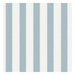 Graham & Brown - Ticking Stripe Wallpaper - A classic striped wallpaper in sky blue incorporates our classic Aaron texture. The small scale of this stripe gives it a very traditional feel but can equally be used in a more contemporary setting.