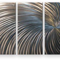 Matthew's Art Gallery - Metal Wall Art Abstract Sculpture Home Decor Modern Silver Swirl - Name: Silver Swirl