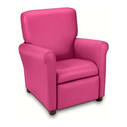 Urban Microfiber Childrens Recliner - Pink - About Ace Bayou CorporationAce Bayou Corporation was founded in 1986 and has grown into a group of diverse lifestyle-focused divisions. They all feature innovative quality products at prices that allow everyone to enjoy the benefits. Their lifestyle furniture division features youth and adult casual furniture including unique bean bags video rockers recliners and special seating products. As a recognized innovator in these categories Ace Bayou provides products that fit your lifestyle.