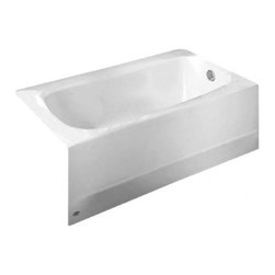 American Standard - American Standard Cambridge 5' Bathtub W Right Hand Outlet And Grab Bar Drilling - American Standard 2461.102.020 Cambridge 5' Bathtub with Right Hand Outlet and Grab Bar Drilling, White