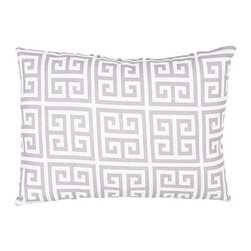 Jaipur - Veranda Gray 13 x 18-Inch Decorative Pillow - - These fashion forward pillows in trellis stripes and whimsical patterns are for both indoor and outdoor use       - Care Instructions: Remove the throw pillow's cover if it is removable. Wash the cover separately from the pillow. Pre-treat badly soiled or stained areas on the pillow cover with a color-safe prewash spray. Rub the spray into the stain with a damp sponge. Wash the pillow cover or the whole pillow on a gentle-wash cycle in warm water with a very mild detergent. Detergent for delicate fabrics or baby clothes is usually suitable. Remove the pillow or pillow cover as soon as the washing machine has ended the cycle and has shut off. Hang the pillow or cover up to dry in a well-ventilated area. If the care label specifies that the item is dryer-safe place the pillow or pillow cover in the dryer and tumble dry on low heat. Fluff the pillow once it is dry in order to maintain its form. Don't use the pillow until it is completely dry. Damp pillows will attract dirt more easily  - Made in USA Jaipur - PLW101847