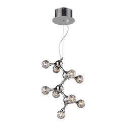Elk Lighting - Elk Lighting 30024/9 Molecular Modern Chandelier in Polished Chrome - Elk Lighting 30024/9 Molecular Modern Chandelier in Polished Chrome