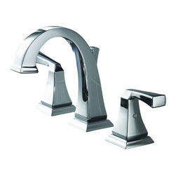Delta - Dryden Two Handle Widespread Bathroom Faucet in Chrome - Delta 3551LF Dryden Two Handle Widespread Bathroom Faucet in Chrome. The clean lines and geometric forms of the Dryden Collection are based on style cues of the Art Deco period.  The simple, yet sophisticated design, when combined with multiple finish options, creates style flexibility that's at home in settings from old-world to arts and crafts to modern.Delta 3551LF Dryden Two Handle Widespread Bathroom Faucet in Chrome, Features:1.5 gpm, 5.7 L/min