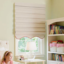 Levolor - Levolor Roman Shades: Seclusions Light Filtering - Do something beautiful to your windows with Levolor's line of premium roman shades.  Seclusions light-filtering fabrics are beautifully textured with horizontal and vertical slubs and nubs for rich character.