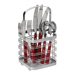 Spectrum Basic Silverware Caddy - About Spectrum Diversified DesignsSpectrum Diversified Designs based out of Cleveland Ohio operates out of a 130 000 square foot distribution center and provides services to nearly every continent on the globe. With a specialized team of experts in art design and logistics Spectrum consistently provides top-quality products that are functional attractive and cost-effective. Spectrum is dedicated to providing you with only the best in home accessories. From the kitchen to the bath and all in between you'll find exactly what you need for all of your home needs. The possibilities are endless.