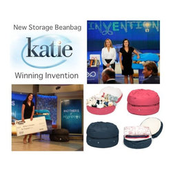 "mimish on Katie (Couric) Show - Our Storage Beanbag is the winning invention on the Katie Couric ""Mother's of Invention"" show! Thank you Shark Tank judges! Photo courtesy of ABC/Disney."