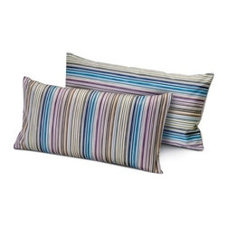 Missoni Home - Missoni Home | Jenkins Blue Pillow 12x24 - Design by Rosita Missoni.