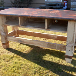 Pine with Patina coat TV stand -