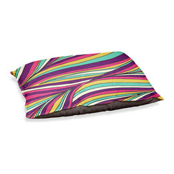 """DiaNoche Designs - Dog Pet Bed Fleece - Tropical Leaves - DiaNoche Designs works with artists from around the world to bring unique, designer products to decorate all aspects of your home.  Our artistic Pet Beds will be the talk of every guest to visit your home!  BARK! BARK! BARK!  MEOW...  Meow...  Reallly means, """"Hey everybody!  Look at my cool bed!  Our Pet Beds are topped with a snuggly fuzzy coral fleece and a durable indoor our underside material.  Machine Wash upon arrival for maximum softness.  Made in USA."""