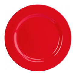 Martha Stewart Collection Dinnerware, Set Of Four Melamine Dinner Plates - These are simple, reusable and come in a bright shade.