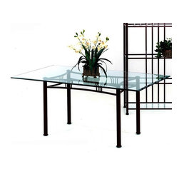 Tempo Industries - Somerset Rectangular Metal Frame Table Base ( - Finish: Standard Finish - AztecA table is only as strong and sturdy as its base!  With the Somerset rectangular base you can choose the optional glass topper or choose another glass top.  Either way, it will be like putting the icing on a homemade cake.  This is the table for the room that already has a well-defined look.  If you are looking for a dining table that you can easily add to a room that is already full of life, this is the one. * Includes Table Base, glass top may be added. Designed for in home or commercial use. Made in USA. Some assembly may be required. Weight capacity: 350 lbs. 46 in. L x 24 in. W x 30 in. H