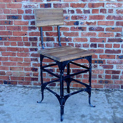 Recycled Wood Stool - I love the boxy looks of this barstool with the lovely reclaimed wood. The stools height is also adjustable.