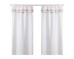 BIRGIT LJUV Pair of curtains - Pair of curtains, off-white, multicolor