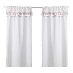BIRGIT LJUV Pair of curtains - Pair of curtains, off-white, multicolor