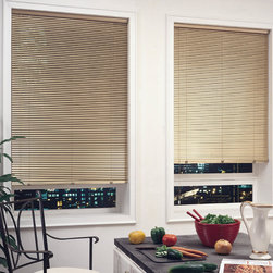 "1"" Premium 6 Gauge Aluminum Mini Blinds - American Blinds 1"" 6 Gauge Premium Aluminum Blinds is more rugged and durable than vinyl blinds as the blinds have been heat-treated for extra ""bounce-back"" resilience and specially coated to reduce dust build-up."