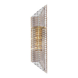 Waterford Crystal - Waterford Crystal London Wall Light 156708 - Waterford London Console Table  -  Size: 4.5 inches wide x 17 inches high x 4 inches deep  -  Integrated LED Lighting!! Jo Sampson, a specialist in the creation of luxury interiors for hotels, restaurants, and private homes brings her expertise to world of Waterford Interiors. The London Collection features sleek brushed metal finishes and innovative LED technology.  -  Don't Buy From An Unauthorized Dealer  -  Genuine Waterford Crystal  -  Fully Authorized U.S. Waterford Crystal Dealer  -  Stamped With The Waterford Seahorse Symbol Of Excellence  -  Waterford Crystal Jo Sampson Collection  -  Waterford Crystal UPC Number: 024258508613