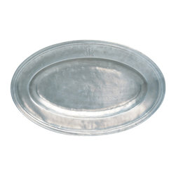 Match - Pewter Oval Platter - Match Pewter's Antique-style Oval Platter is handcrafted of lustrous Italian pewter, created by artisans in northern Italy. You will love elegant and graceful this serving platter looks on the table.