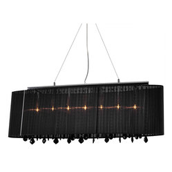 Bromi Design Jasmine 5-Light Crystal Pendant Black