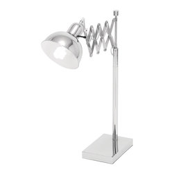 ecWorld - Studio Village Classic Adjustable Metal Scissor Accordian Table Lamp - Add both style and function to your favorite room with this scissor accordian table lamp. Ideal for reading, hobbies or a workspace, this lamp focuses light precisely where you need it.
