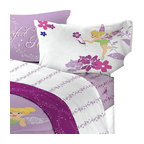 Franco Manufacturing - 4-Piece Disney Tinkerbell Powder Purple Bedding Full Sheet Set - Features: