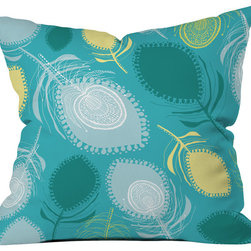DENY Designs - Rachael Taylor Electric Feather Shapes Throw Pillow - Wanna transform a serious room into a fun, inviting space? Looking to complete a room full of solids with a unique print? Need to add a pop of color to your dull, lackluster space? Accomplish all of the above with one simple, yet powerful home accessory we like to call the DENY throw pillow collection! Custom printed in the USA for every order.