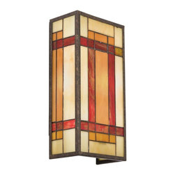 Kichler - Kichler Art Glass Wall Sconce in Bronze - Shown in picture: Kichler Wall Sconce 2Lt in Patina Bronze